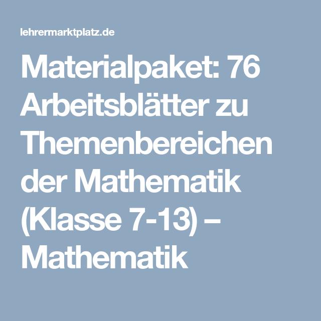 Dieses Materialpaket enthält 110 Arbeitsblätter zu Themenbereich der ...