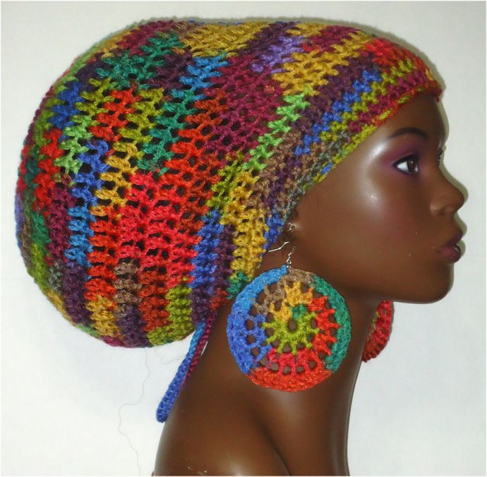 Rasta Style Crochet Hat Pattern | outfits to try | Pinterest | Moda ...
