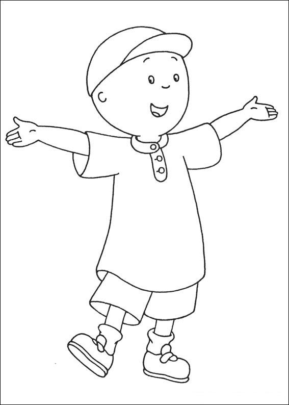 Caillou Print Out Caillou Coloring Pages 3 Fun With Elle