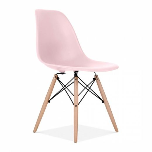 Awesome Iconic Designs Pastel Pink Dsw Chair In 2019 Plastic Theyellowbook Wood Chair Design Ideas Theyellowbookinfo