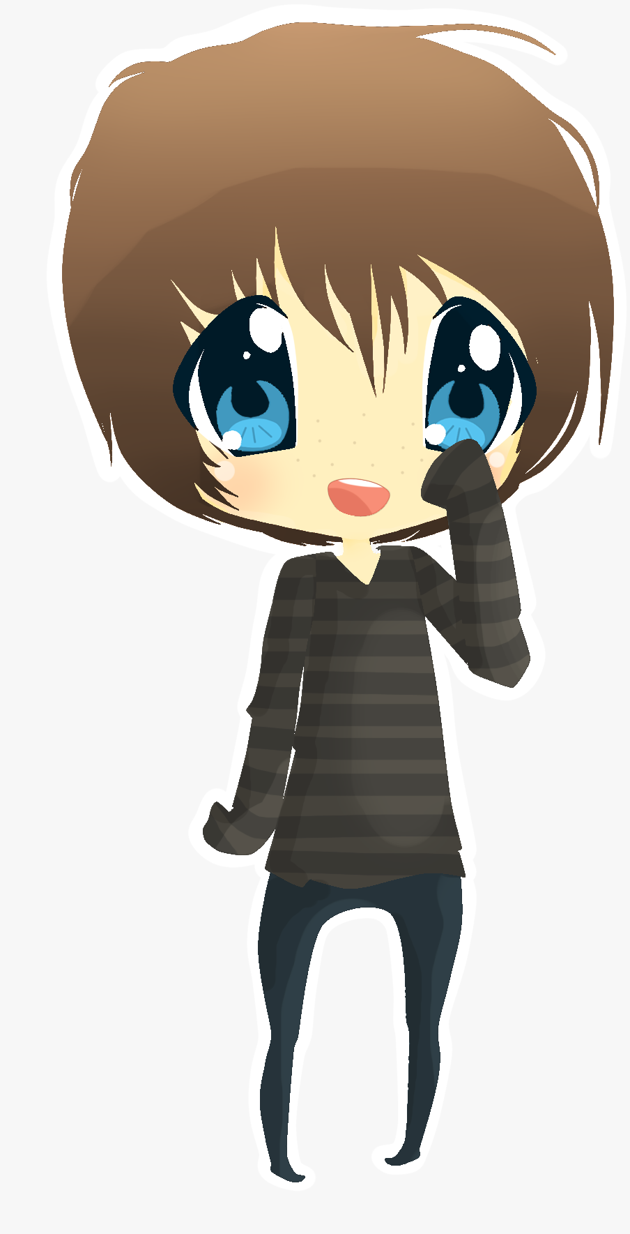 Images For > Boy Chibi With Headphones | Chibi boy ...