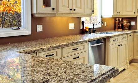 299 For Granite Counter Top Polishing And Re Caulking From Atlantis Stone Care 595 Value Antique White Kitchen Antique White Kitchen Cabinets Traditional Kitchen Design