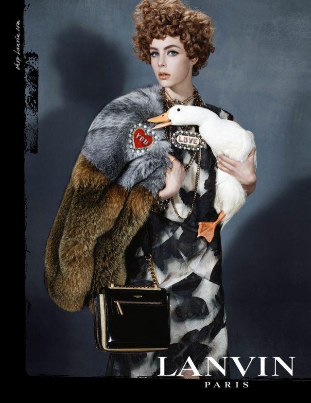 Lanvin I Fall 2013 I Model: Edie Campbell I Photographer: Steven Meisel.