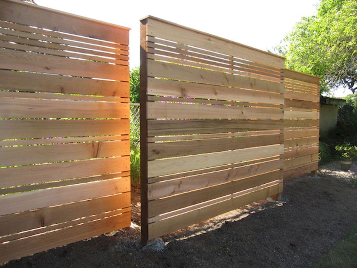 Simple backyard privacy fence ideas on a