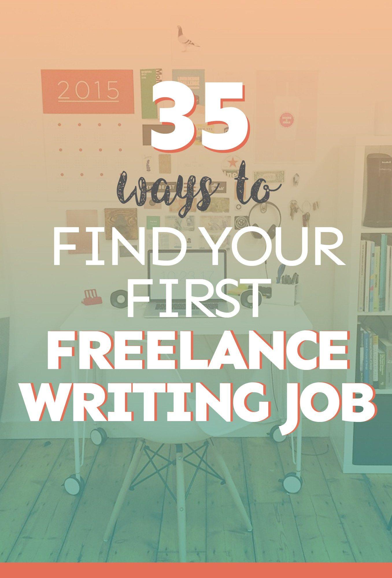 ways to your first lance writing job lance  35 ways to your first lance writing job
