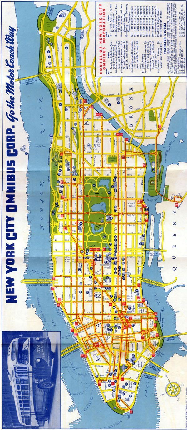 1940s map of manhattan Blood Brothers Pinterest Bus map Blood