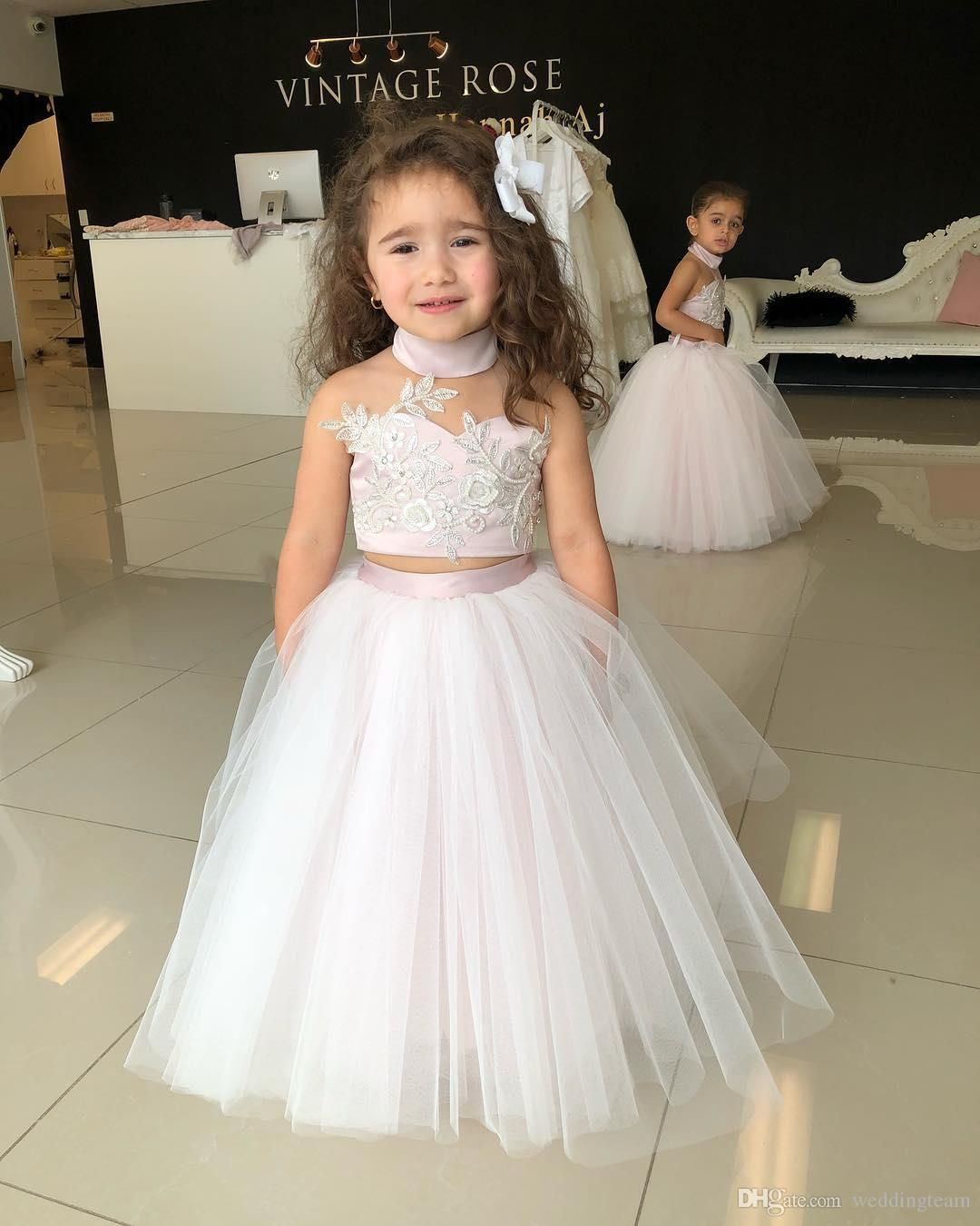 Adorable Two Pieces Ball Gown Flower Girl Dresses For Weddings ...