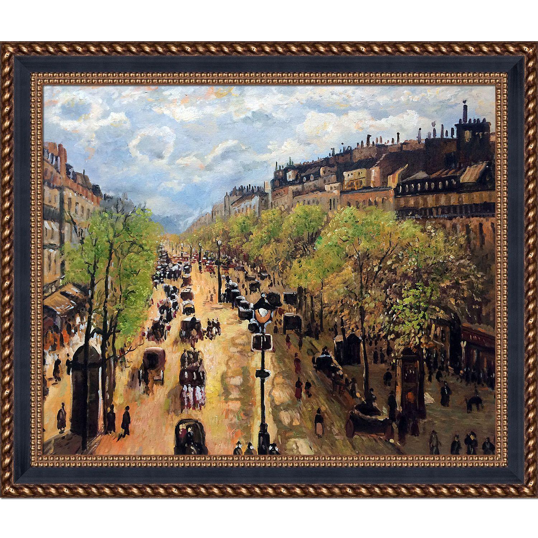 La Pastiche Camille Pissarro \'Boulevard Montmartre Spring\' Hand ...