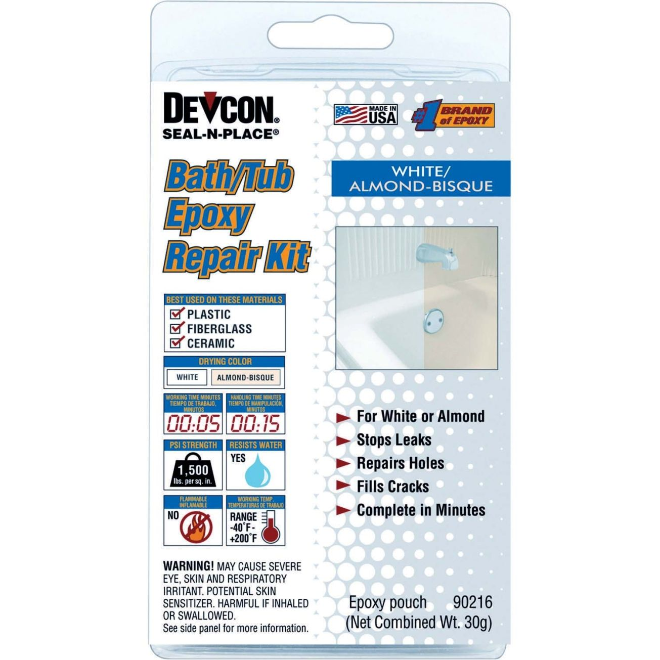 Devcon Bathtub Epoxy Repair Kit 90216 Repair Adhesives Ace