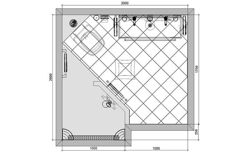 Badkamer 14 plattegrond bathroom pinterest - Kaart badkamer toilet ...