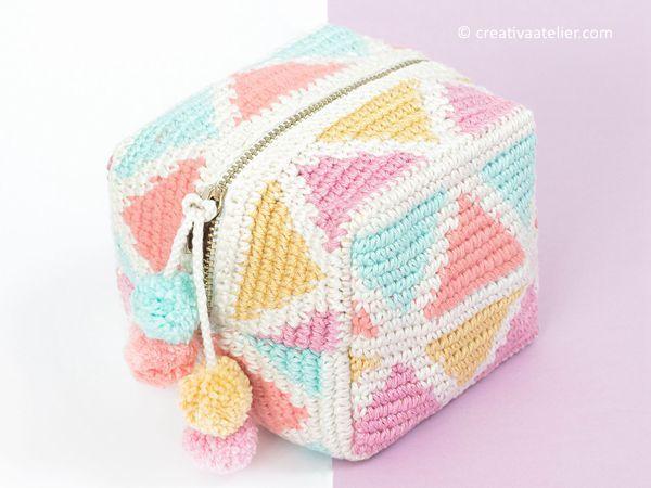 crochet Tapestru CUBE patern gratuit   – Crochet