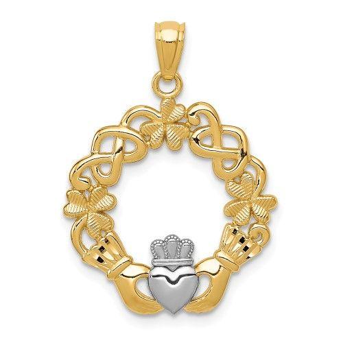 Jewelry Pilot 14K Madi K CZ Childrens Bow Pendant