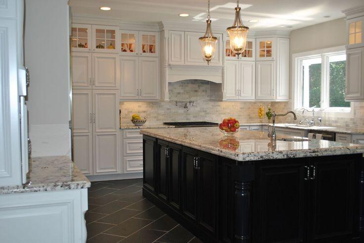 dark kitchen cabinets white island google search kitchen dreams rh pinterest com