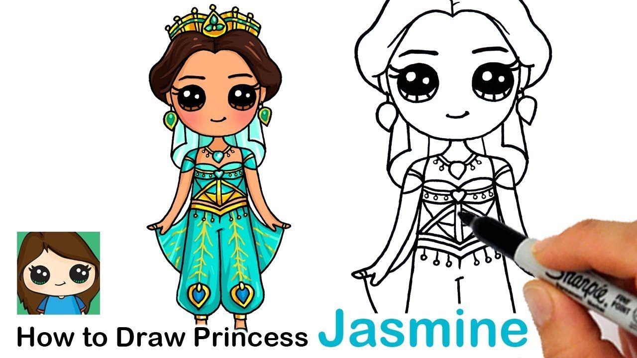 How To Draw Princess Jasmine Disney Aladdin New Cute Disney Drawings Disney Princess Drawings Princess Drawings
