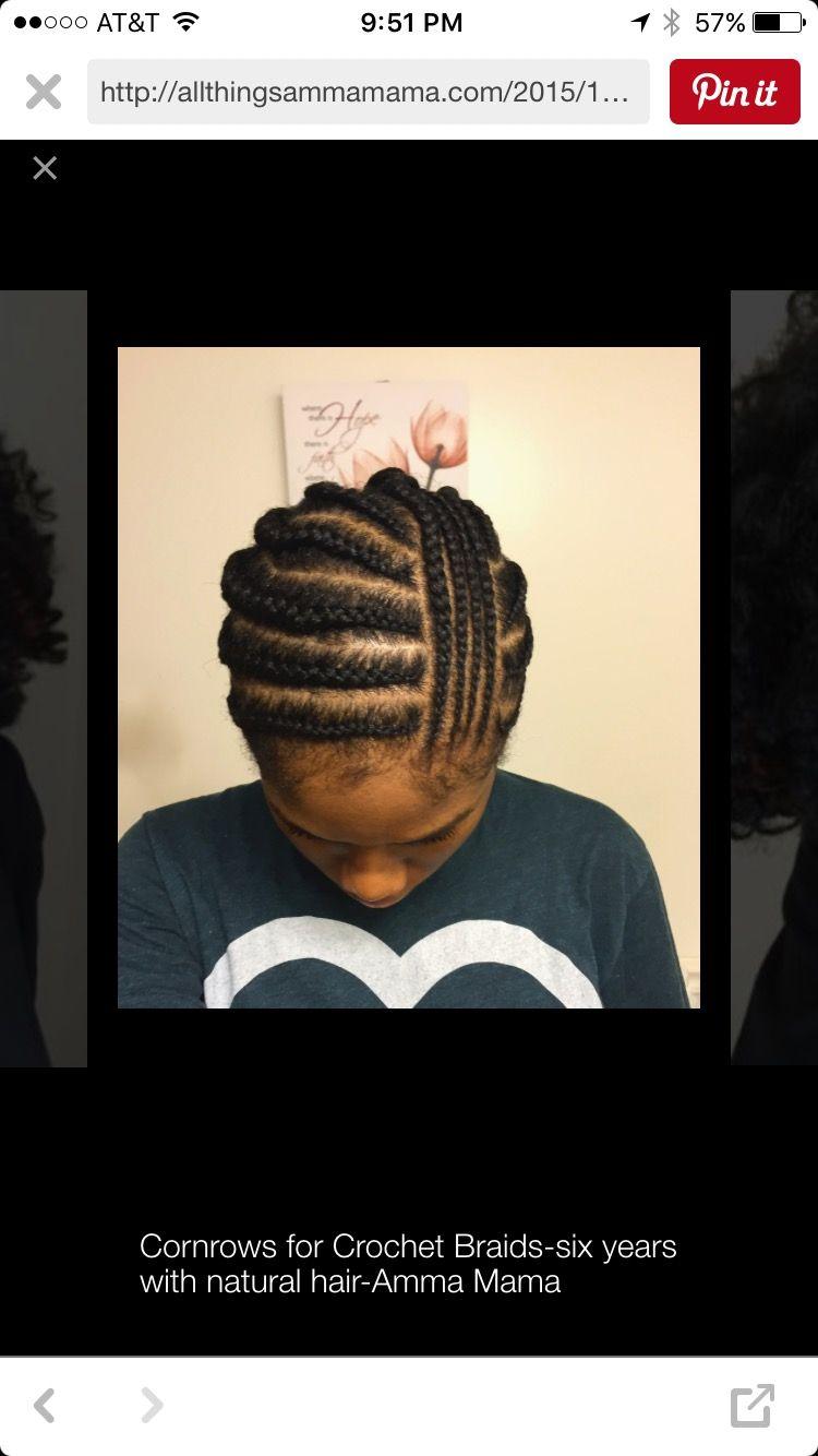 Cornrow pattern for side part crochet braids. | Hair & beauty ...
