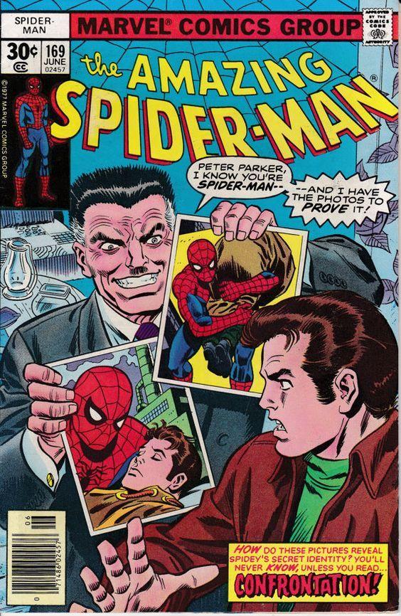 Amazing Spider-Man #169, edición de junio de 1977 - Marvel Comics -john romita sr