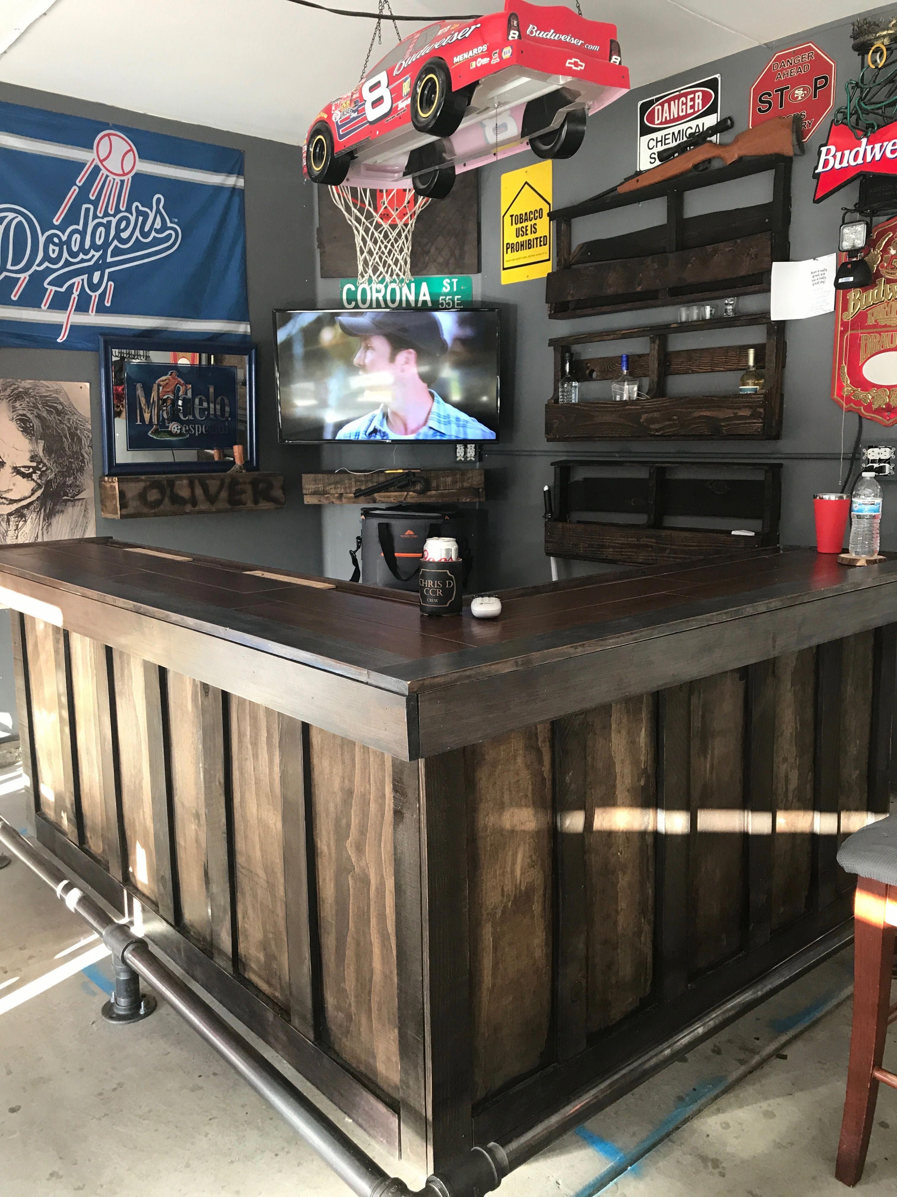 Joy Of A Man Cave Diy Home Bar Basement Bar Designs Home Bar