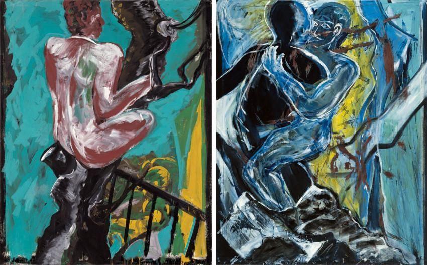 Bernd Zimmer Mann Im Baum 1982 Verwandlung 1983 German Expressionist Art Movement Visual Art