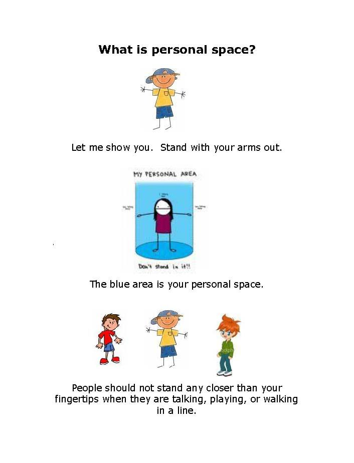 What Is Personal Space? Visual and short social story