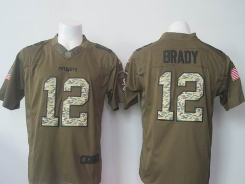 promo code 5b346 d3278 Nike New England Patriots #12 Tom Brady green Limited Salute ...