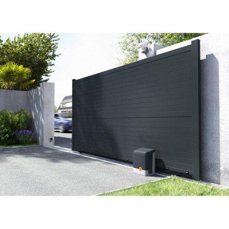 Portail Coulissant Aluminium Lima Gris Anthracite Primo L 350 X H 180 Cm Portail Coulissant Cour Moderne Design Exterieur De La Maison