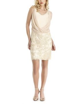 b75d649bdf4b BRAVO Αμάνικο αμπιγέ δαντελωτό φόρεμα