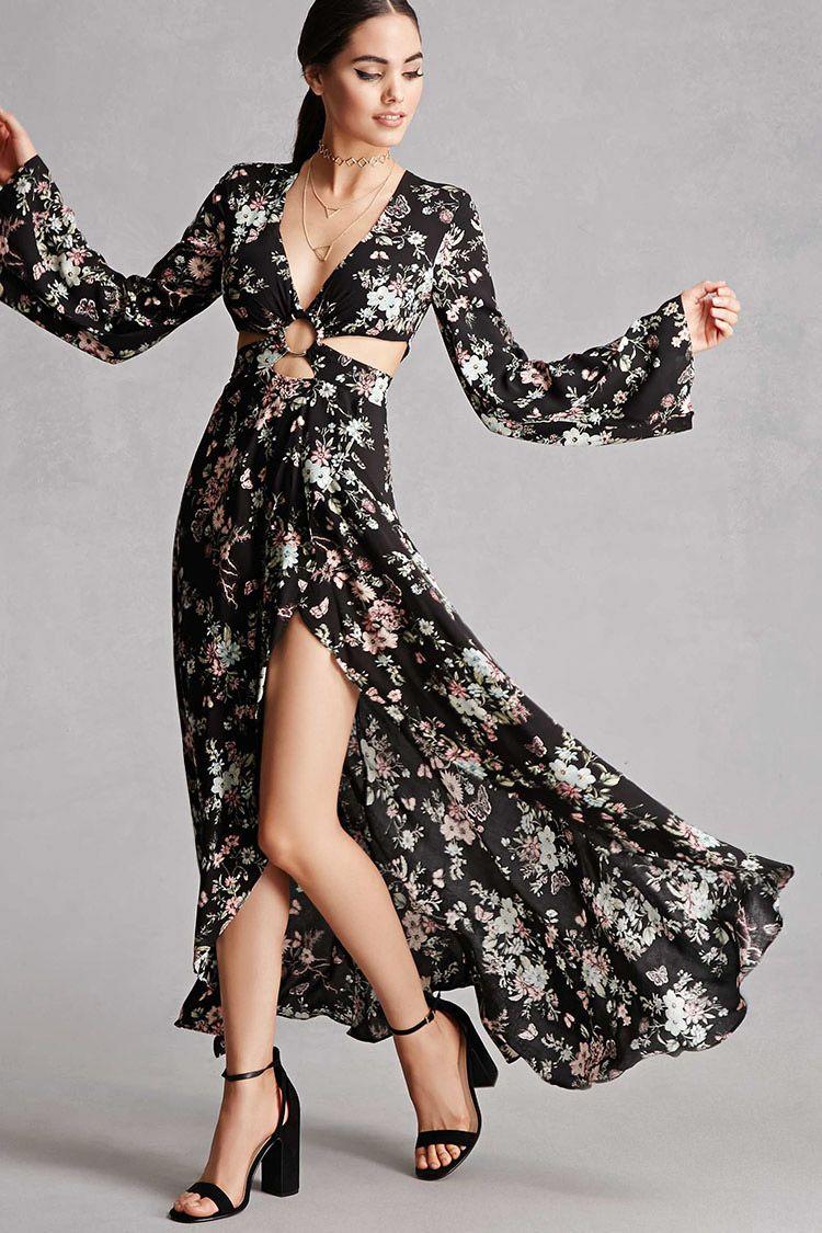 A woven maxi dress by selfie leslieutrade featuring an allover