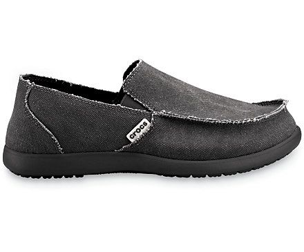 Black on black Crocs™ Men's Santa Cruz | Men's Loafer | Crocs Shoes  Official Site