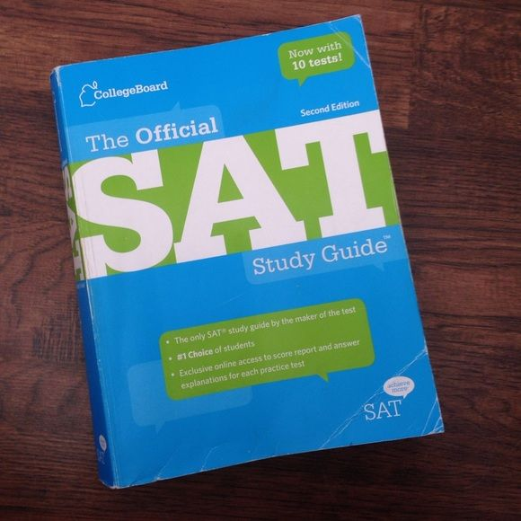 SAT study guide Includes 10 tests, some pages are folded because I used them. All the pages are intact. Although the book looks like it's been through A LOT, it is still very helpful! Other