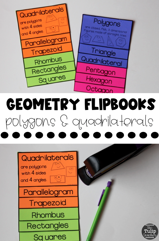 3rd grade geometry flipbooks to cover polygons and