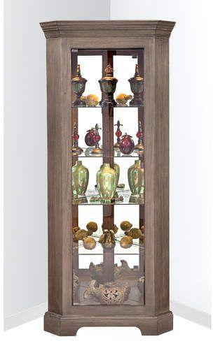 philip reinisch newport i lighted corner curio cabinet showcase rh pinterest com