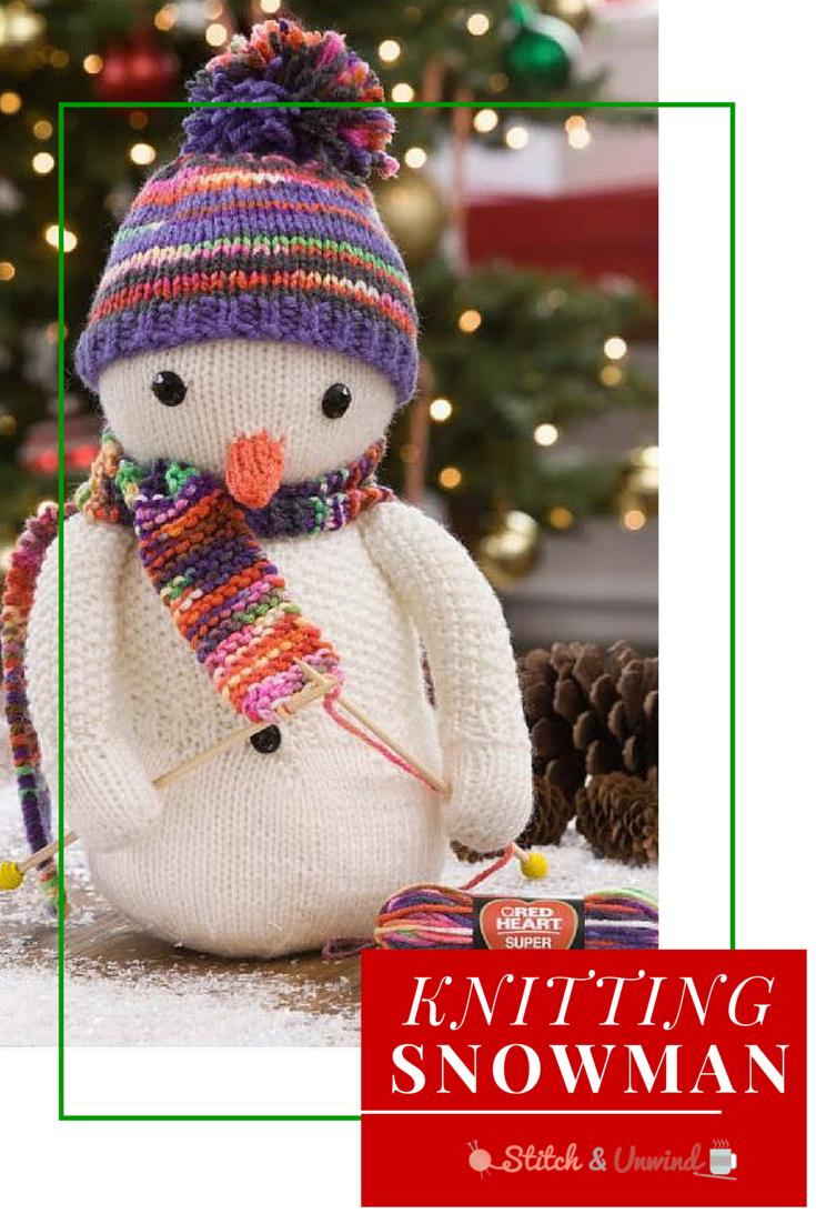 Festive Knitting Snowman Knitting Pattern | Snowman, Crochet and ...