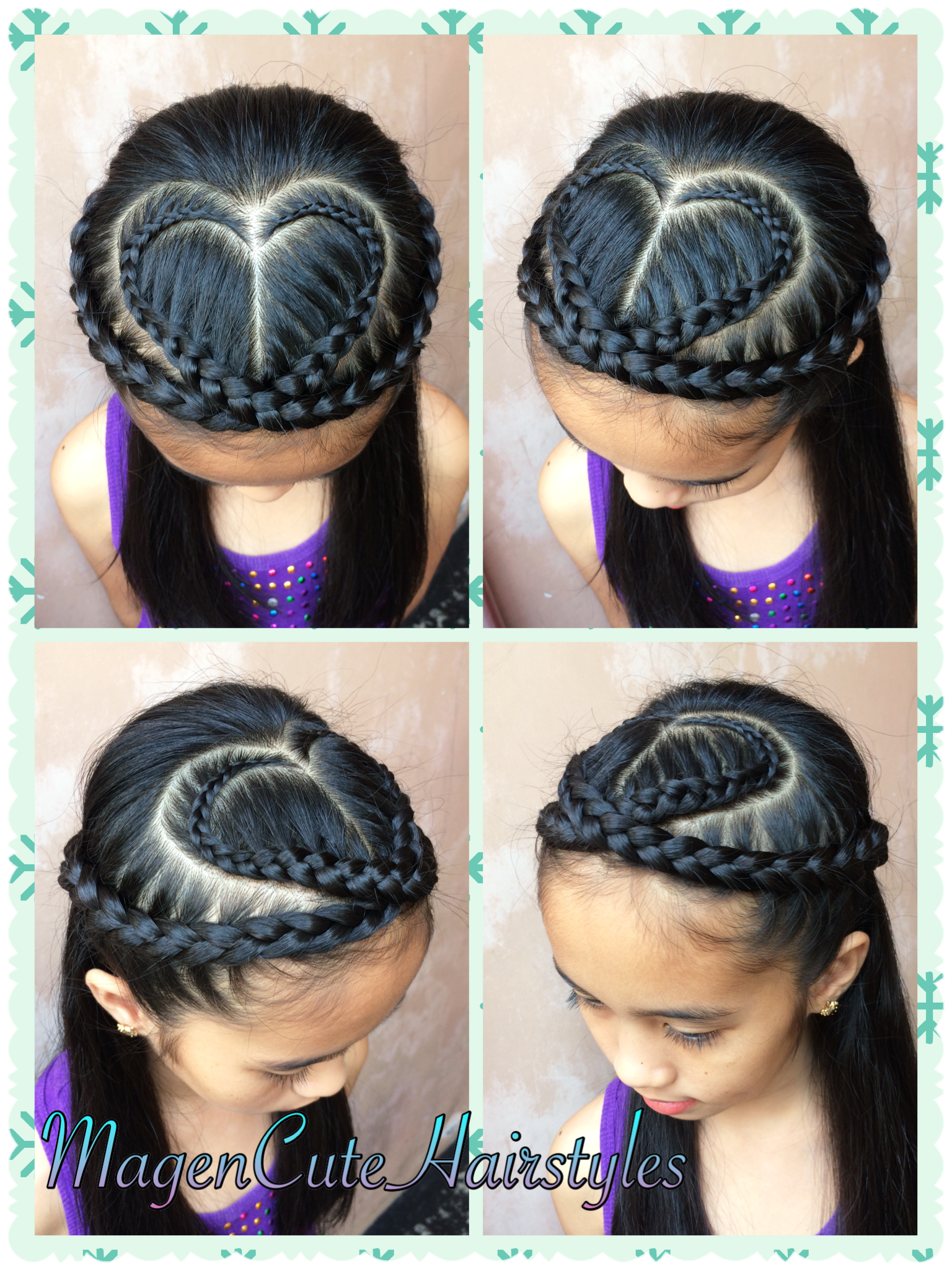 Heart Shape Dutch Lace Braid Kids Hairstyles Girls Hairdos Toddler Hairstyles Girl