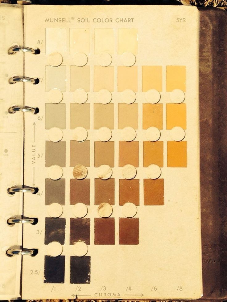 munsell soil color chart book page via the pendulum files