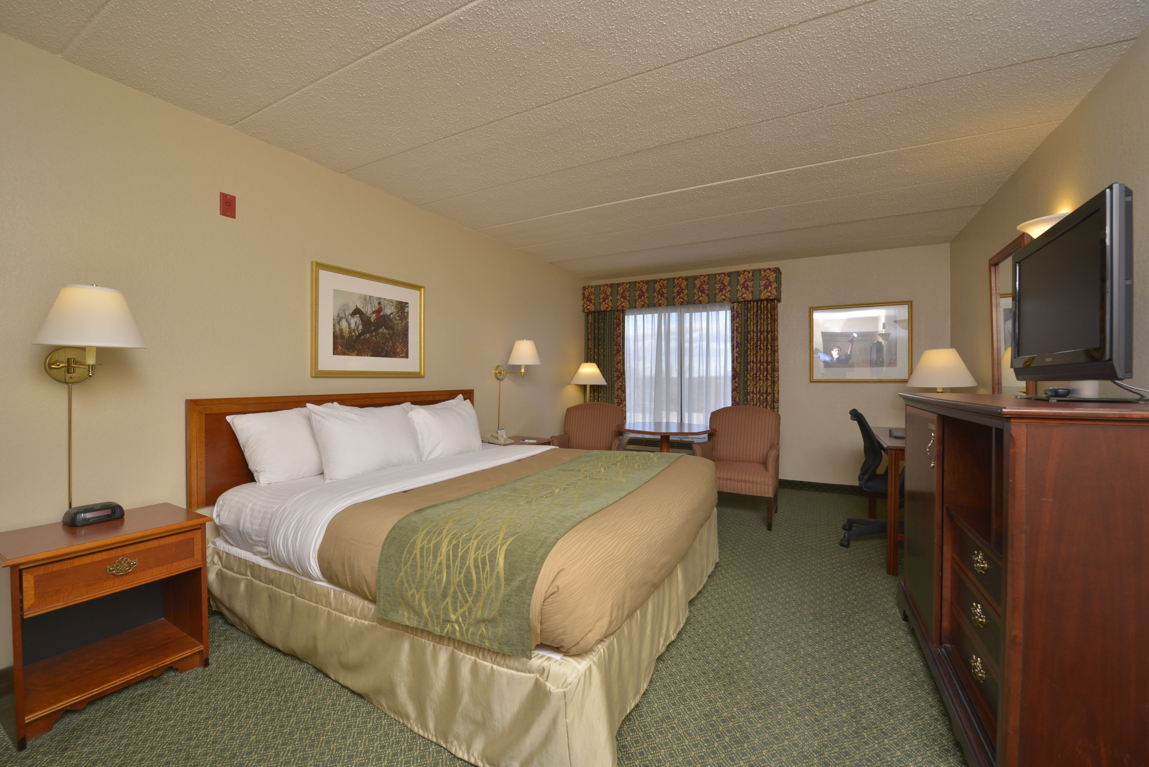 Standard Guest Room with 1 King Bed #ComfortInn #Springfield