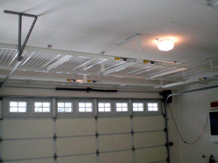 Installation Garage Ceiling Storage Concrete Countertops