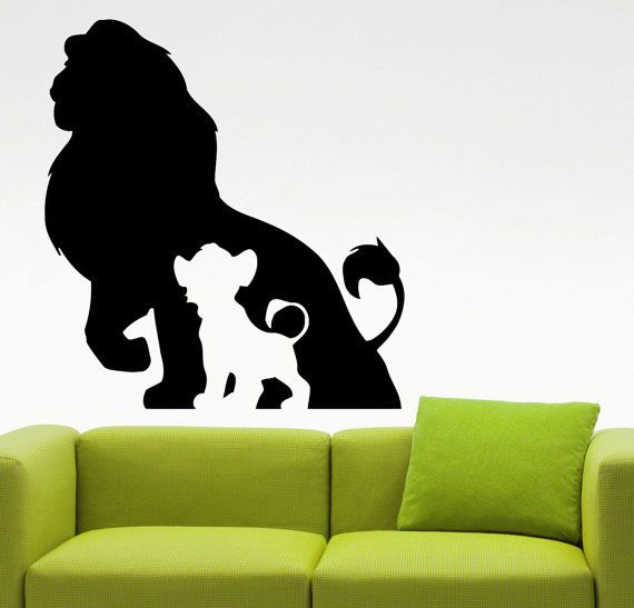 The Lion King Wall Decal Cartoon Vinyl By AmandaCooldesigns