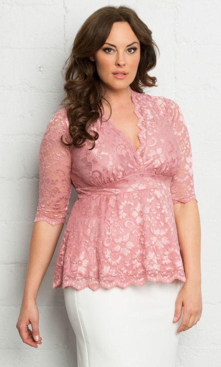 Plus Size Lace Top {affiliate link} | Plus Size Fashion | Pinterest ...