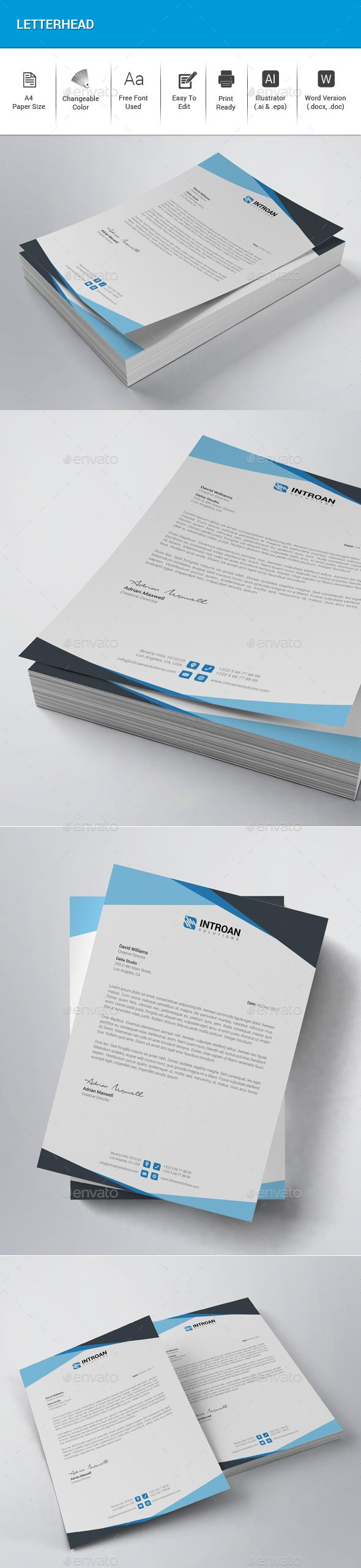 Letterhead Letterhead template Stationery printing and