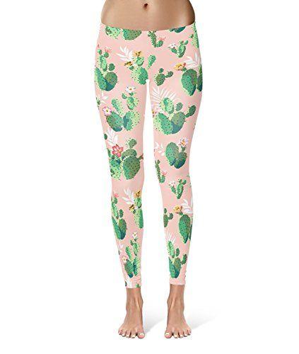 1208845334 Cactus In Bloom Leggings - M for Women Sizes XS-3XL Designer Lycra Gym Yoga