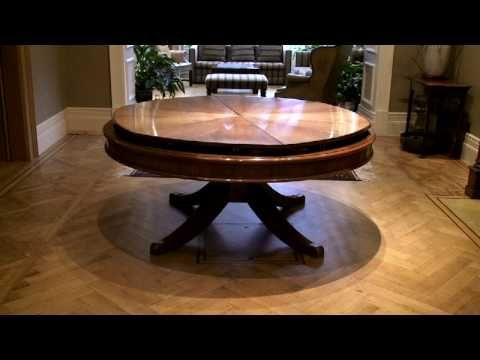 High Tech Dining Table Rotates Expands Com Imagens Mesas Redondas De Sala De Jantar Mesa De Jantar Redonda Mesa Expansivel