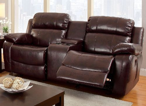 Furniture Of America Hughes Collection Dark Brown Bonded