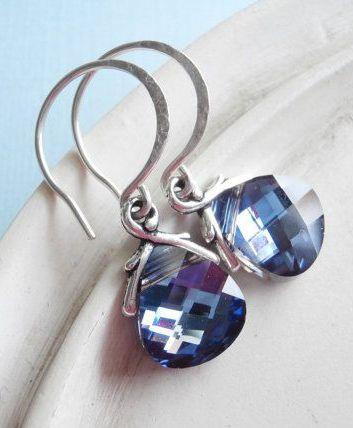 Swarovski Crystal Earrings - Teardrop Briolette