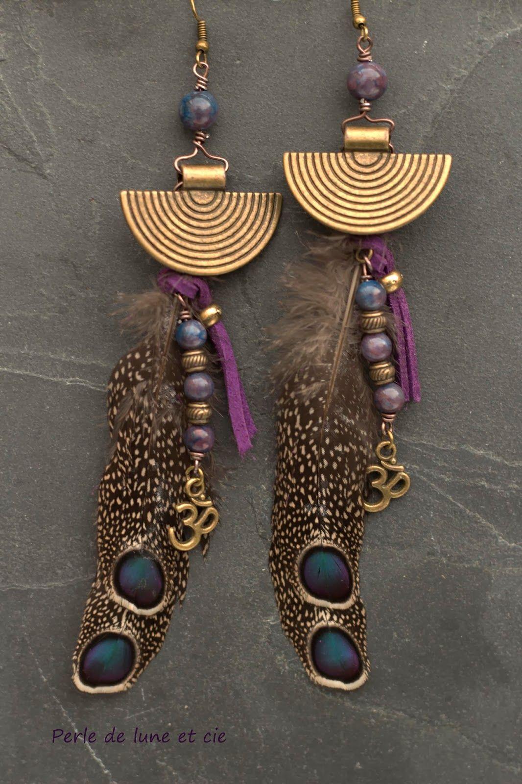 fabriquer boucle d oreille ethnique bijoux la mode. Black Bedroom Furniture Sets. Home Design Ideas