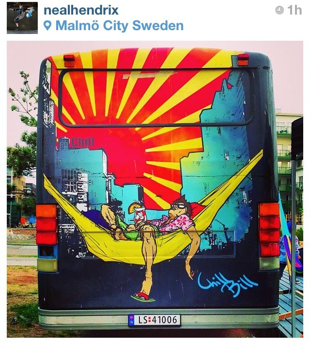 Street art bus Malmö - Chill Bill :)