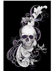 Purple Skull Design