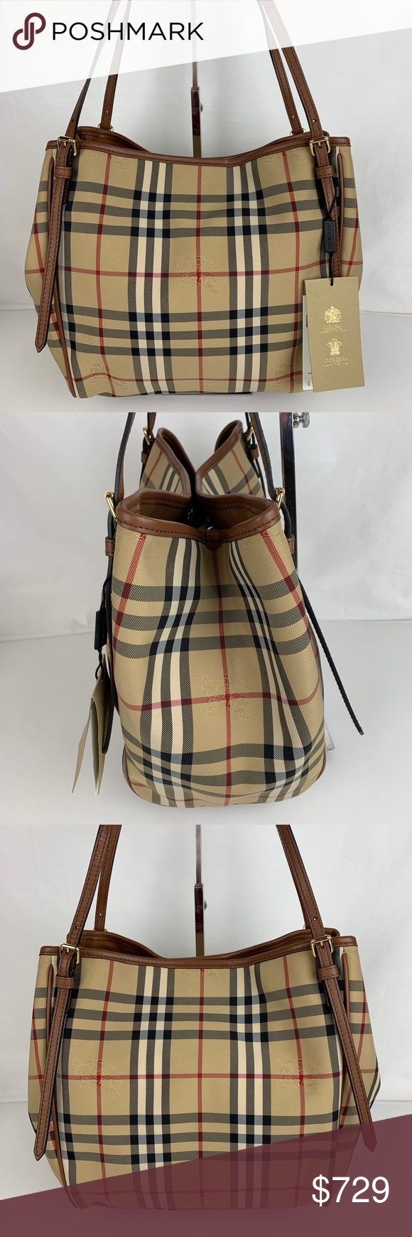 4b7159873aba Burberry Horseferry Small Canter Tote 4028897 Authentic Burberry style  39393771. New