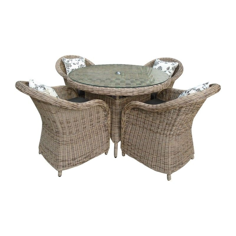 saigon colonial 4 seat round dining set outdoor dining table and chairs in gorgeous rattan