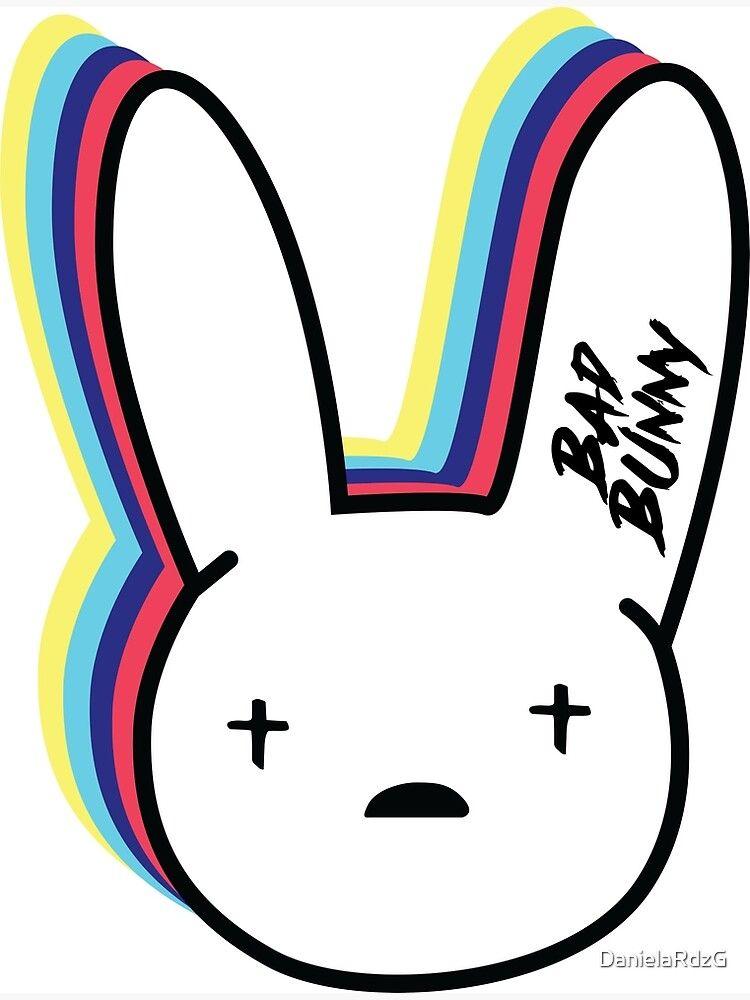 Poster Bad Bunny Logo De Danielardzg Bunny Wallpaper Bunny Painting Bunny Poster