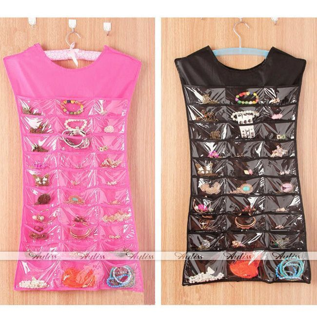 Details about Dress Hanging Jewelry Brooch Bag Closet Display